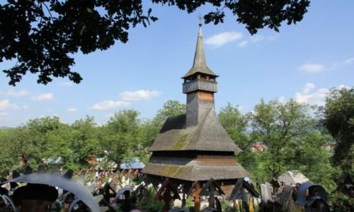 Zdjecie RUMUNIA / Marmarosz / Ieud / Cerkiew Narodzenia Matki Bożej w Ieud