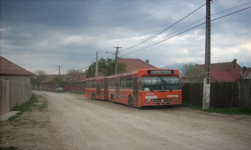Zdjecie RUMUNIA / Transylwania / Zarnesti / Autobus w Zarnesti