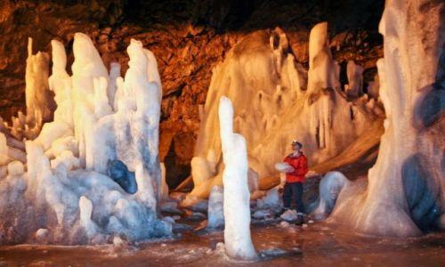 RUMUNIA / gory Apuseni / Scarisoara / lodowa jaskinia