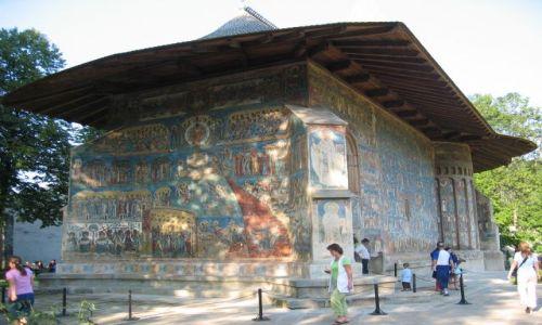 Zdjecie RUMUNIA / Mołdawia / Bukowina / Arbore / Malowane cerkwie - Voronet