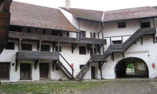 Zdjecie RUMUNIA / Transylwania /   Prejmer - w pobliżu Sighisoary / Kościół warowny  tzw. chłopski
