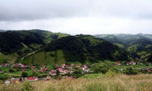 Zdjecie RUMUNIA / Transylwania / Valea mare / Krajobraz k. Valea mare