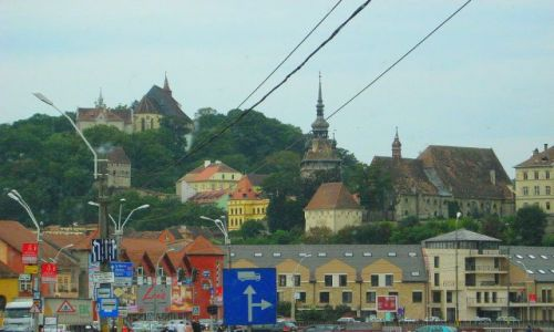Zdjecie RUMUNIA / Transylwania / Sighisoara / nowa i stara Sighisoara