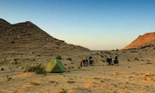SAHARA ZACHODNIA / Sahara Zachodnia / Sahara Zachodnia / Rowerem przez Afrykę - nocleg na Saharze