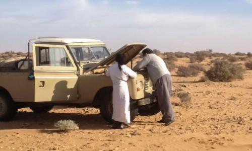 SAHARA ZACHODNIA / Al-Ujun-As-Sakija al-Hamra / w piaskach Sahary / Padła chłodnica