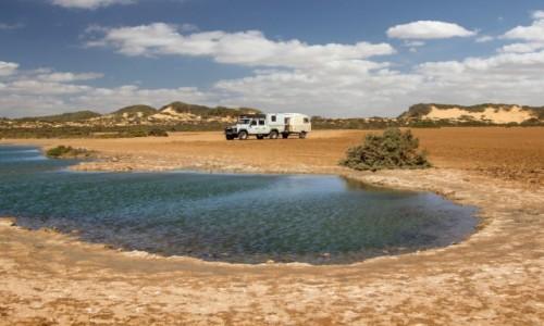 Zdjęcie SAHARA ZACHODNIA / Dakhla-Oued Ed-Dahab / Sebkhet Imlily / Woda na pustyni