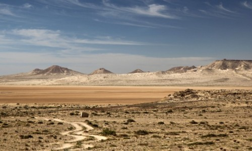 SAHARA ZACHODNIA / Ad-Dachla-Wadi az-Zahab / na dnie zatoki / Pastelowe widoki