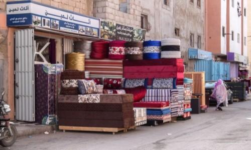 Zdjecie SAHARA ZACHODNIA / Al-Ujun-As-Sakija al-Hamra. / stare miasto / Uliczki Al-Ujun