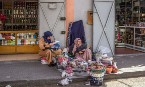 Zdjecie SAHARA ZACHODNIA / Al-Ujun-As-Sakija al-Hamra / stare miasto / Uliczki Al-Ujun