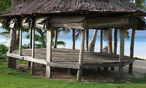 Zdjęcie SAMOA ZACHODNIE / Savaii / Fagamalo / samoańskie domostwo