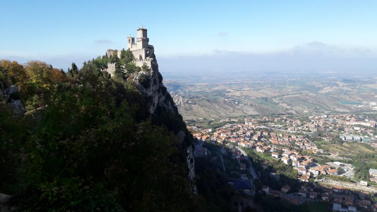 Zdjęcia: Monte Titano, San Marino, Panorama , SAN MARINO