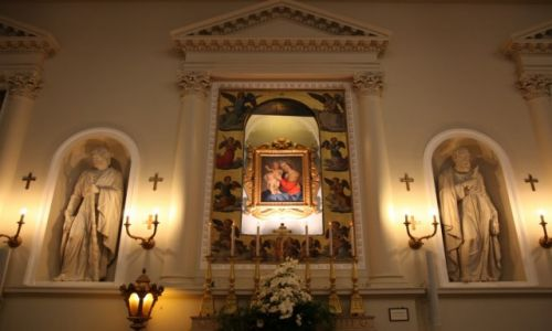 SAN MARINO / San Marino / Bazylika San Marino / Ołtarz boczny