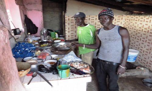 SENEGAL / Prowincja Casamance / Cap Skirring / Kuchnia w restauracji na plaży