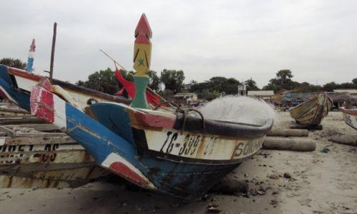 SENEGAL / Prowincja Casamance / Cap Skirring / Łódź rybacka