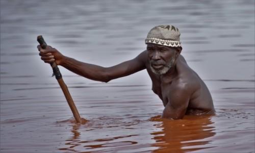 SENEGAL / Zachodni / Lac Rose / Sól wody ... różowej ;-)