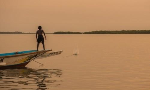 Zdjecie SENEGAL / Casamance / Elinkin / Rybak na ... łowisku 😁