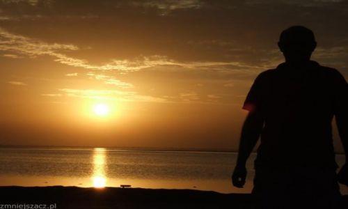 SENEGAL / - / Okolice granicy z Gambią / Zachód słońca nad oceanem