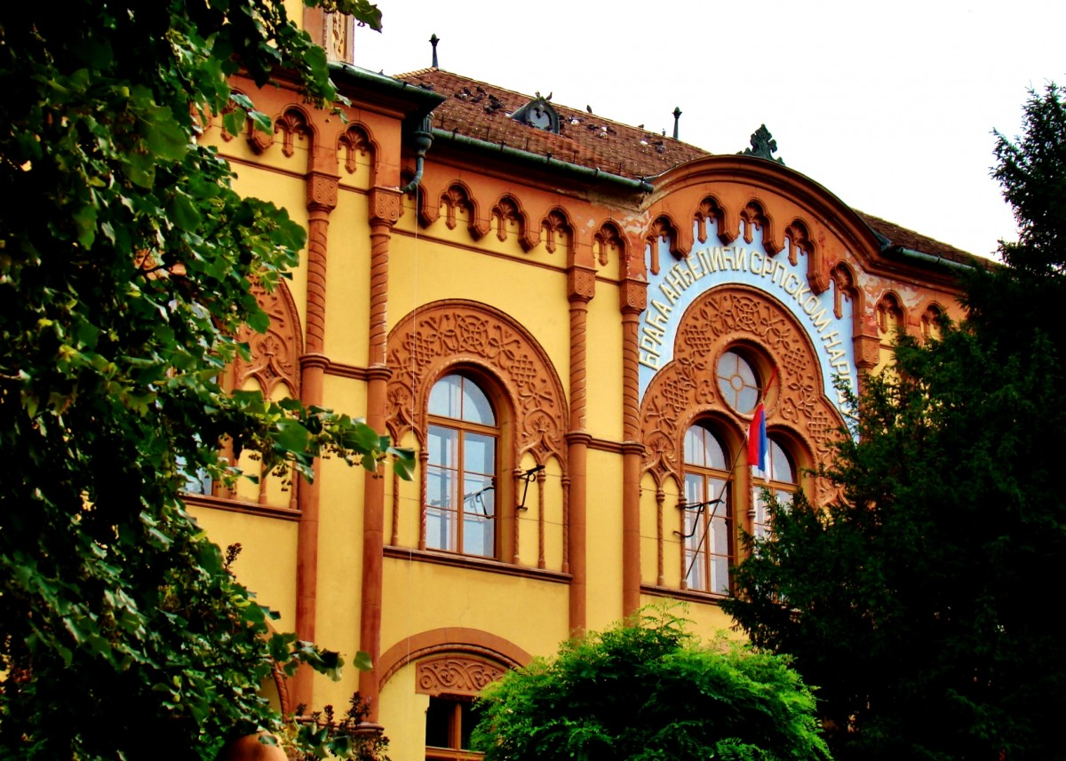 Zdjęcia: Sremski Karlovci, Vojvodina, Sremski Karlovci-gimnazjum w budynku z 1891 roku, SERBIA