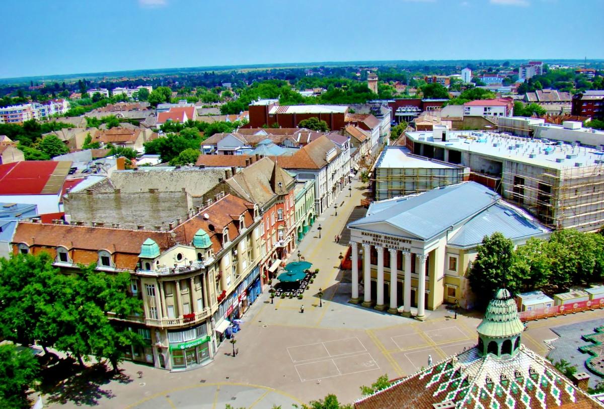 Zdjęcia: Subotica, Vojvodina, Subotica-widok z wieży ratusza, SERBIA