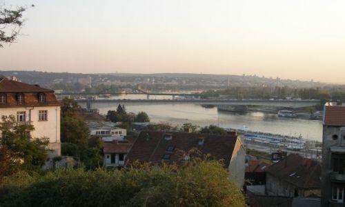 Zdjęcie SERBIA / - / Belgrad / Zachód slońca nad Dunajem