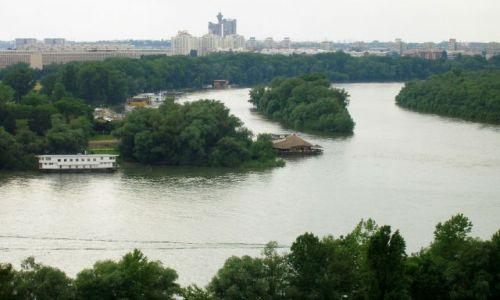 SERBIA / - / Belgrad / Miejsce gdzie Sawa wpada do Dunaju