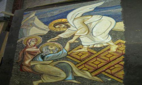 Zdjecie SERBIA / - / Belgrad / Mozaika wewnątrz cerkwi św. Sawy