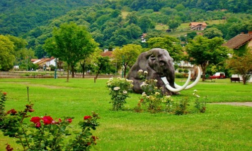 Zdjęcie SERBIA / Borski,Park Narodowy Djerdap / Donji Milanovac / Donji Milanovac-pomnik mamuta