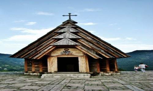 Zdjęcie SERBIA / zach.Serbia,Zlatibor / Drvengrad / Drvengrad-drewniane miasto Kusturicy/cerkiew św.Sawy/