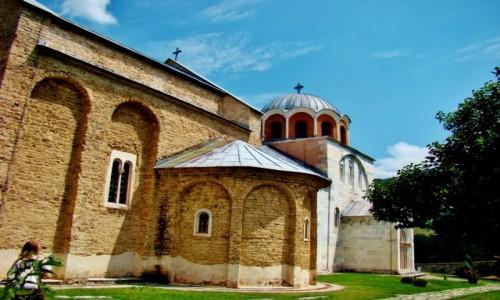 Zdjęcie SERBIA / Brezova,Raska / Studenica / Studenica-cerkiew pw.Zaśnięcia Bogurodzicy z XII wieku