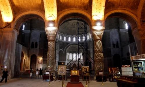 Zdjecie SERBIA / - / Belgrad / Wnętrze cerkwi św. Sawy