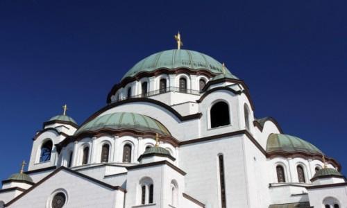 Zdjecie SERBIA / - / Belgrad / Kopuły cerkwi św. Sawy