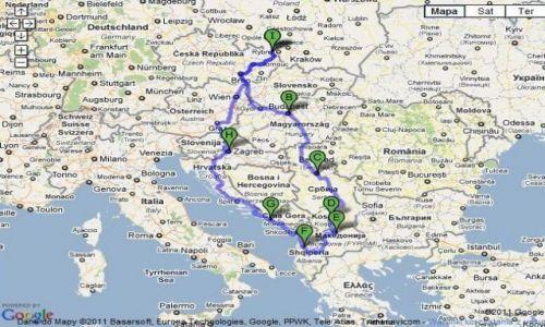 SERBIA / Bałkany / Bałkany / planowana trasa wyprawy