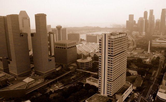 Zdjęcia: Singapore, Singapore, Widok z balonu DHL, SINGAPUR