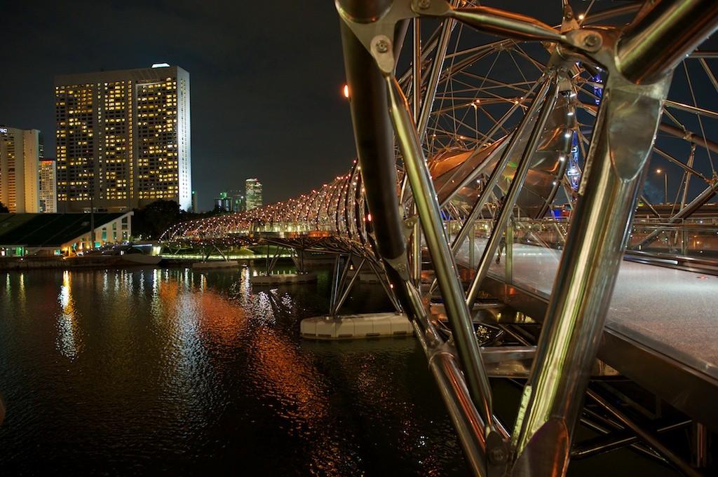 Zdjęcia: Singapore, Marina Bay, Double Helix Bridge, SINGAPUR