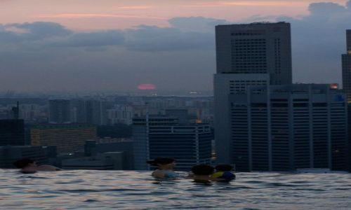 Zdjęcie SINGAPUR / Singapur / marina bay sands / basenik hotelowy