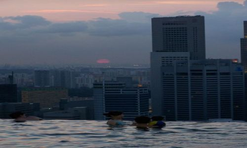 Zdjecie SINGAPUR / Singapur / marina bay sands / basenik hotelow