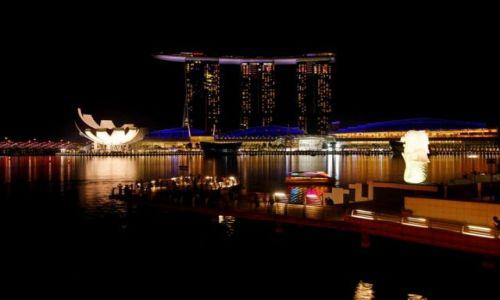 Zdjęcie SINGAPUR / Singapur / Centrum / Miasto Noca