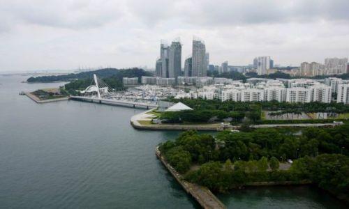 SINGAPUR / Singapur / Zatoka / Widok na miasto z kolejki