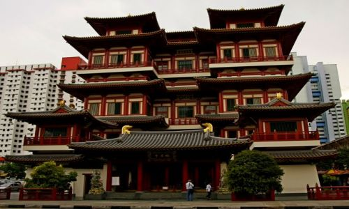 Zdjęcie SINGAPUR / Singapur / Chinatown / Budda Tooth Relic Temple
