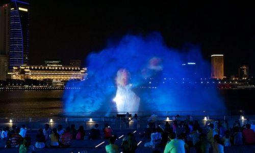 SINGAPUR / Singapore / Marina Bay Sands / Wodny pokaz (Marina Bay, Singapore)