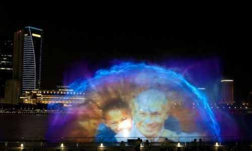 Zdjecie SINGAPUR / Singapore / Marina Bay Sands / Wodny pokaz (Marina Bay, Singapore)