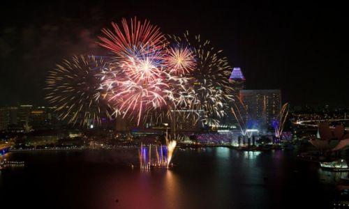 Zdjecie SINGAPUR / Marina Bay / Singapore / Konkurs - Spełnione Marzenia, Fajerwerki w Singapore