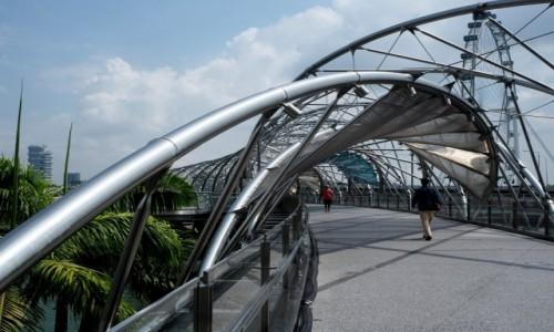 SINGAPUR / płd -wsch Azja / Marina Bay / Helix Bridge