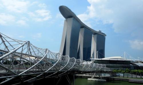 Zdjęcie SINGAPUR / płd -wsch Azja / Marina Bay / Helix Bridge
