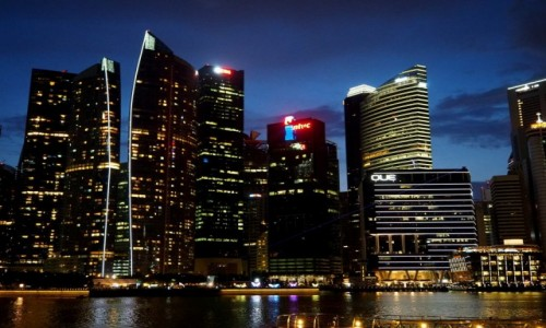Zdjęcie SINGAPUR / płd -wsch Azja / Marina Bay / By night