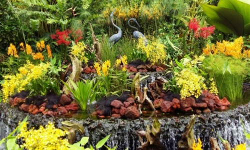 Zdjecie SINGAPUR / Singapur / Ogród Botaniczny / Sztuczne ale piękne