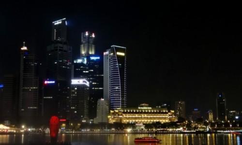 Zdjecie SINGAPUR / Singapur  / Marina Bay  / Miasto nocą