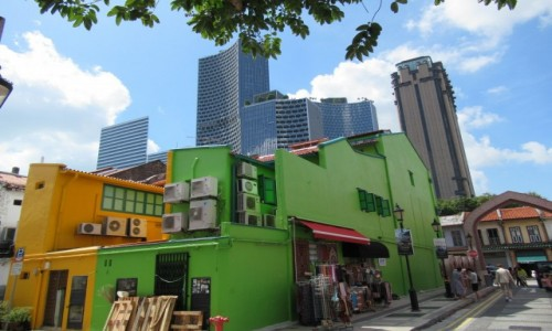 Zdjecie SINGAPUR / Centrum / Singapore / Kontrast