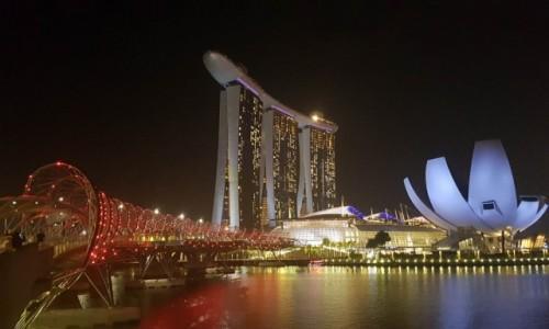 Zdjecie SINGAPUR / - / Singapur nocą / Singapur nocą