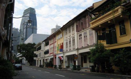 SINGAPUR / dzielnica chińska / ulica / uliczka w dzielnicy Chińskiej